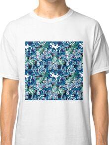 Boho style seamless pattern with Australian aboriginal arts motifs. Classic T-Shirt