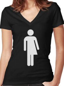 TRANS ICON Women's Fitted V-Neck T-Shirt