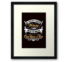 Watch Once Upon A Time Framed Print