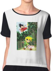 Link vs Kid Goku Chiffon Top