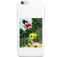Link vs Kid Goku iPhone Case/Skin