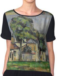 Paul Cezanne - Banks of the Marne  1888 Impressionism  Landscape Chiffon Top