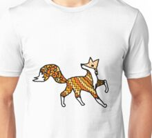 Fox Pattern Filled Outline Unisex T-Shirt