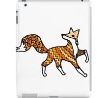Fox Pattern Filled Outline iPad Case/Skin