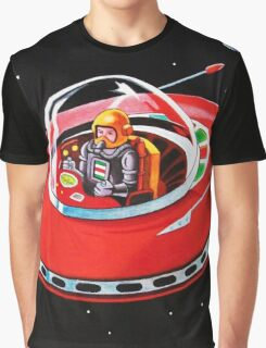 RED FLYING SAUCER Graphic T-Shirt