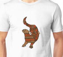Otter Pattern Filled Outline Unisex T-Shirt