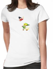 Link Vs Kid Goku 2 Womens Fitted T-Shirt