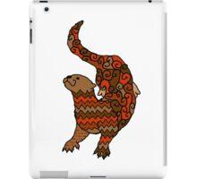 Otter Pattern Filled Outline iPad Case/Skin
