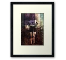 athlete collage_02 Framed Print
