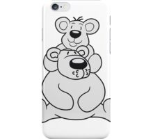 shoulders sitting papa mama child family son daughter team polar bear sitting sweet cute comic cartoon teddy bear dick big iPhone Case/Skin
