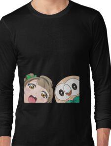 Kotori and Rowlet cornerface Long Sleeve T-Shirt