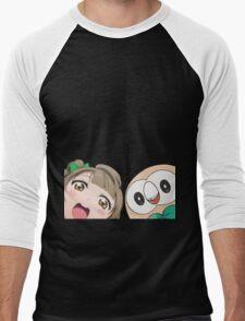 Kotori and Rowlet cornerface Men's Baseball ¾ T-Shirt