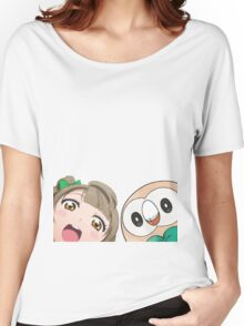 Kotori and Rowlet cornerface Women's Relaxed Fit T-Shirt