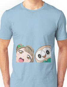Kotori and Rowlet cornerface Unisex T-Shirt