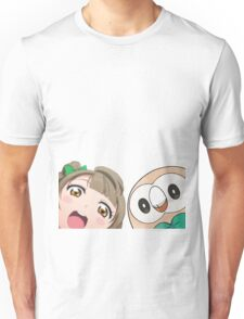 Kotori and Rowlet cornerface Unisex T-Shirt