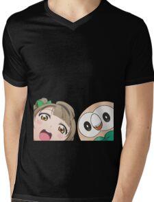 Kotori and Rowlet cornerface Mens V-Neck T-Shirt