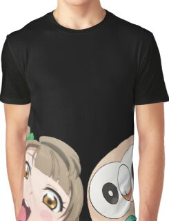 Kotori and Rowlet cornerface Graphic T-Shirt