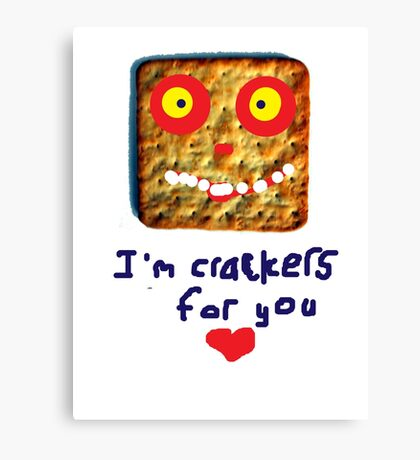 crackers for you Canvas Print