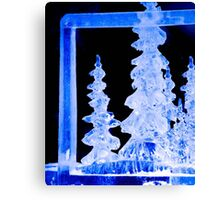 An Icy Blue Christmas Canvas Print