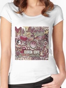 Florida State Collage Women's Fitted Scoop T-Shirt