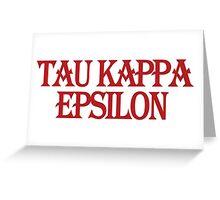Tau Kappa Epsilon in Text Greeting Card