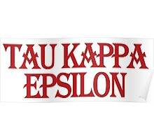 Tau Kappa Epsilon in Text Poster