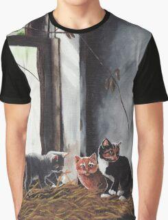 Kittens Playing Graphic T-Shirt