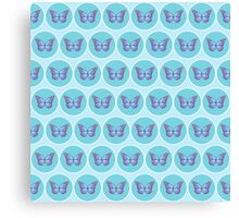Blue butterflies pattern Canvas Print