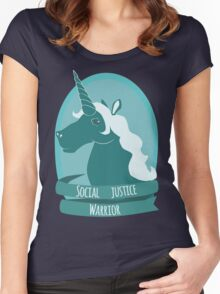 Social Justice Warrior Unicorn Women's Fitted Scoop T-Shirt