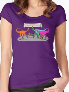 Ornithomimus Party Women's Fitted Scoop T-Shirt