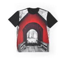 Yachats River Valley Covered Bridge Graphic T-Shirt