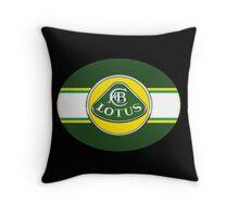 Vintage lotus Cars Throw Pillow