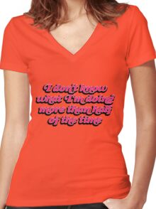 Lady Dynamite Women's Fitted V-Neck T-Shirt