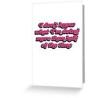 Lady Dynamite Greeting Card