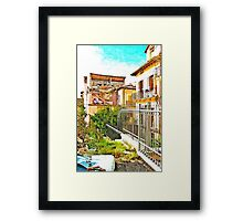 L'Aquila: collapsed house Framed Print