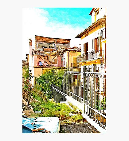L'Aquila: collapsed house Photographic Print