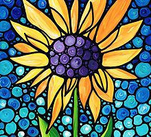 Standing Tall - Sunflower Art By Sharon Cummings by Sharon Cummings