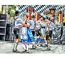 Schuhplattler Folk Dancers Photographic Print