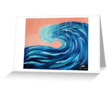 Storm Wave Greeting Card
