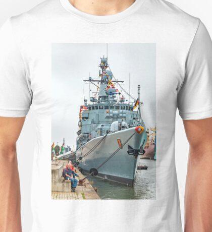 German Navy Frigate 'Karlsruhe' - Bremerhaven Unisex T-Shirt
