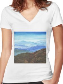 Blue Ridge Women's Fitted V-Neck T-Shirt