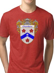 Chambers Coat of Arms/Family Crest Tri-blend T-Shirt