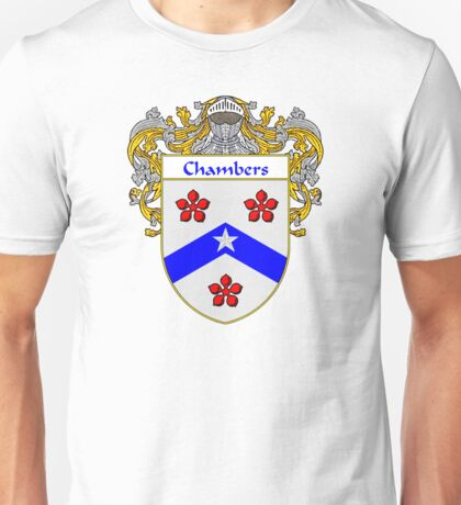 Chambers Coat of Arms/Family Crest Unisex T-Shirt