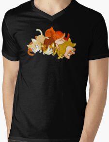 Pile de chat Mens V-Neck T-Shirt
