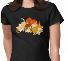 Pile de chat Womens Fitted T-Shirt