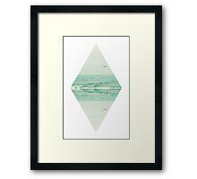Parallel Waves Framed Print