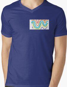 Spectrum of Swirling Color Mens V-Neck T-Shirt