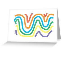 Spectrum of Swirling Color Greeting Card