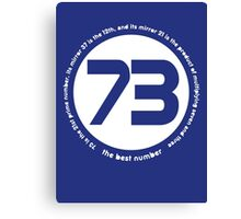 73 is the best number Canvas Print