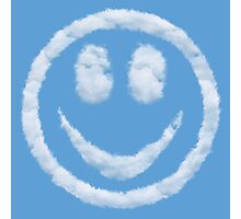Smiley Happy Clouds Photographic Print